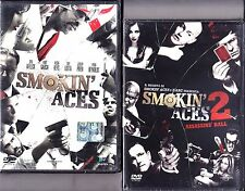Dvd **SMOKIN' ACES 1+ 2~ASSASSINS' BALL** Affleck Garcia Liotta nuovo 2007-2010
