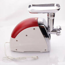 USA 2000W Home Electric Meat Grinder Sausage Stuffer Stainless Cutter Home New