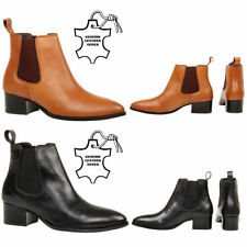 Unbranded Leather Slip On Ankle Boots for Women