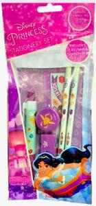 Disney Princess Jasmine Stationery Set-2 Pencils Pen Eraser Sharpener & Ruler