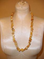 Beautiful Strand of Russian Amber Egg Yolk Bead Necklace