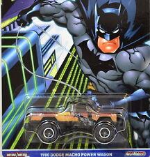 HOT WHEELS POP CULTURE DC COMICS 1980 DODGE MACHO POWER WAGON BATMAN