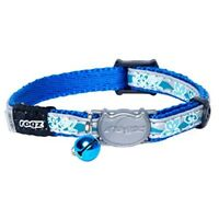 Rogz Reflective Cat Collar With Breakaway Clip And Removable Bell, Fully -