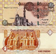 EGYPT 1 Pound Banknote World Paper Money UNC Currency Pick p NEW 2016 Bill Note