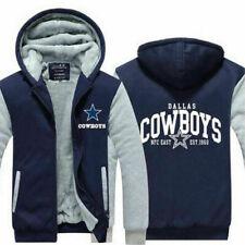 New Men's Dallas Cowboys Fans Hoodie Zip up Jacket Coat Winter Warm