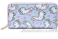 Ladies cute Llama print Purse Wallet zipped multi compartment Alpaca lover gift