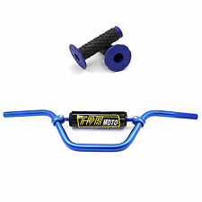 BLUE HANDLE BARS ProTaper pad fitted Pit Dirt bike Quad Thumpster Atomik pit