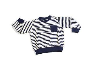 Maglia da bambino blu bianca a righe North Sails junior girocollo manica lunga