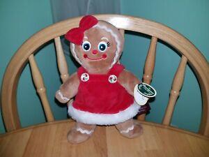 "Bearington Holly Ginger Gingerbread Girl Plush Doll Stuffed Toy 9"" NEW"