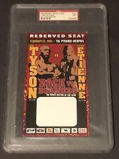 2003 Iron Mike Tyson vs Clifford Etienne boxing ticket pass Memphis PSA
