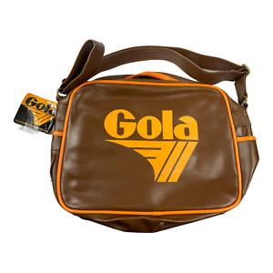 ***NEW*** Gola Bronson Bag Color  Dk Brown/SunGreat Look!