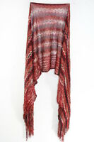 LADIES RED SHADES ZIG ZAG PATTERN UNIQUE SIMPLE WARM WOOL MIX SCARF (MS26)