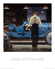 BIRTH OF A DREAM ART PRINT BY JACK VETTRIANO vintage race car garage shop poster