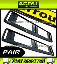 2x Quality Black ABS Plastic Car Registration Number Plate Surround Frame Holder