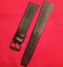 Vintage N.O.S English Made BLACK  LEATHER TAPERED WATCH STRAP 60's-20mm