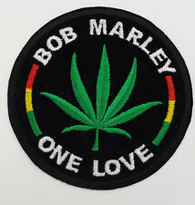 BOB MARLEY ONE LOVE Embroidered Rock Band Iron On Sew On Patch UK SELLER Patches
