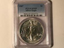 1987 PCGS MS 69 AMERICAN SILVER EAGLE