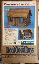 Real Good Toys Log Cabin Kit Miniature House NIP - Unopened Made In Vermont