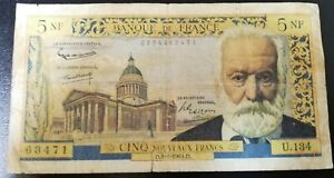 billet 5 francs Victor Hugo
