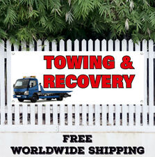 Banner Vinyl Towing Recover Advertising Sign Flag Auto Garage Service Repair Car