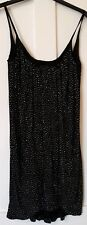 H&M Versace Black Gold Stud Drape Dress Size Small, S, UK 8, EUR 34