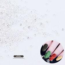 1000Pcs Glitter White Charm Beads Mini Crystal Rhinestones Nail Art Decorations