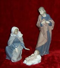 NAO By LLadro Porcelain Glazed Figurines 3 Piece Nativity Jesus-Mary-Joseph
