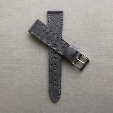 20mm grigio in pelle saffiano Paris Vintage Watch Strap Band Fatto a mano in Italia