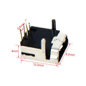 Mini PCB Plug USB Type Mini-A Female Socket Connector Jack Port 4/5 pin
