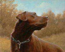 John Silver HOT CHOCOLATE - Labrador Retriever Choc Lab Gun Dog Prints Art Cute