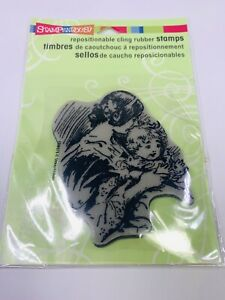 New Stampendous Rubber Stamp Unmounted Baby Mom Patty Cake Play Victorian