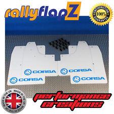 rallyflapz passend für Opel Corsa C (00-07) Schmutzfänger weiß Logo himmelblau