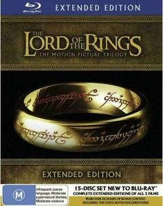 The Lord of the Rings The Motion Picture Trilogy Extended Edition Blu-ray