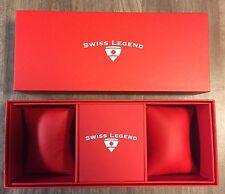 SWISS LEGEND 2-Slot Display Watch Presentation Case Box & Owners Manual NEW
