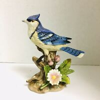 Porcelain HOMCO Bluejay 6.5 inches made in Thailand #1445