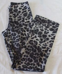 WOMENS CACHE leopard print casual zip up pants = SIZE 4 = KN33