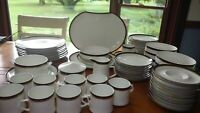 Mikasa Fine Bone China Goldring Dinnerware Set Excellent condition 67 pieces