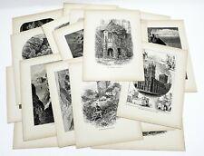 19 Antique Engravings Art Print Resale Wholesale Lot 1870s Europe Landscapes #2