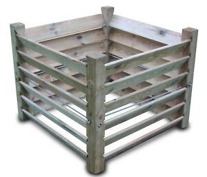 stabiler Komposter Brettkomposter aus Holz 100x100x80 cm - ca. 800 L