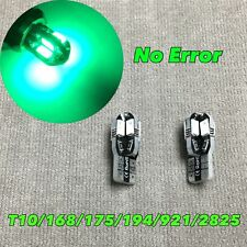 License Plate Light T10 8 SMD LED Wedge 194 175 2825 168 12961 W5W Green W1 E