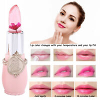 Flower Crystal Jelly Lipstick Magic Temperature Change Color Lip Balm Waterproof