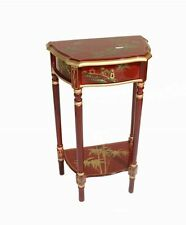 Hand Painted Mottled Red Artistry Design Hall Table Oriental Furniture Chinese