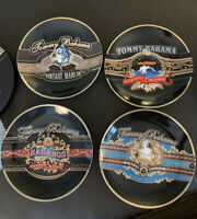 Tommy Bahama Cigar Band Plates 7 inch Lunch Dessert Tapas NIB Set of 4 Ltd Ed