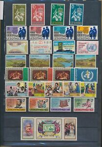 XC89904 Lesotho mixed thematics nice lot of good stamps MNH