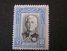 JOHORE, SCOTT # 127, 8c. VALUE 1935 SULTAN IBRAHIM ISSUE MH