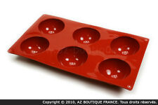 Paderno  Moule demi-sphère | Moule flexible en silicone - 6 demi-sphères