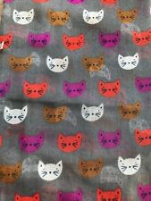 Gris Chat Foulard kitty chat blanc rose visages colorés imprimé new femme fashion