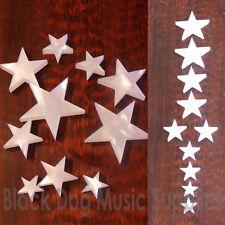Set di dieci a forma di stella Perlati Chitarra marcatori di posizione Fingerboard INTARSI Dots