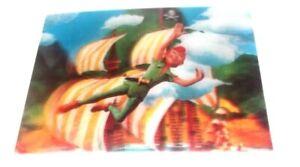 ✰ 3D lenticular postcard PETER PAN flying 1960s Disney unused vintage WC Jonnes