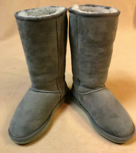 UGG Grey Classic Tall Suede Leather Boots -  Women's size 6